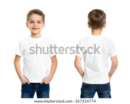 white t shirt on a young man...