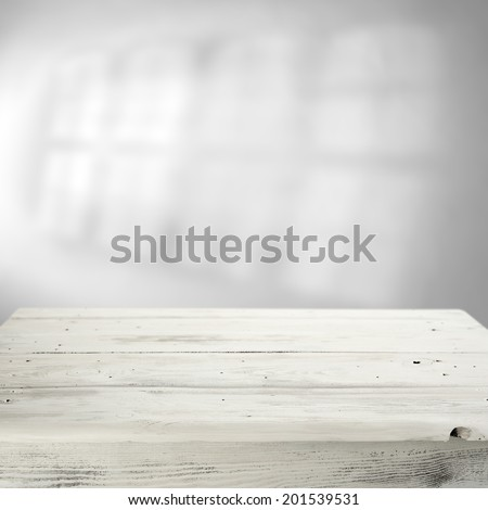 white table and shadow