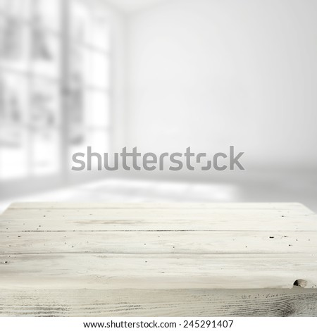 white table and window