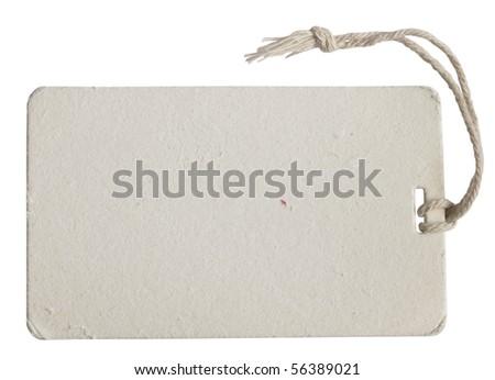 white tag - stock photo