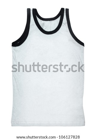White tank top without a pattern isolated on white background