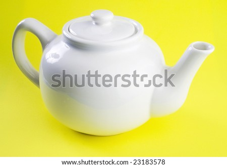 White tea-pot