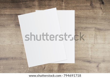 White template paper on wooden background #794691718