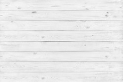 White texture of the wooden surface made of slats. Background for text or design.