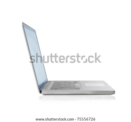 White thin laptop