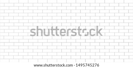 white tile wall ceramic or brick pattern subway texture for background Foto stock ©