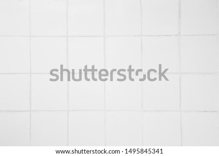 white tiles wall streak texture background vintage using classical background or use it in design and decorative. #1495845341