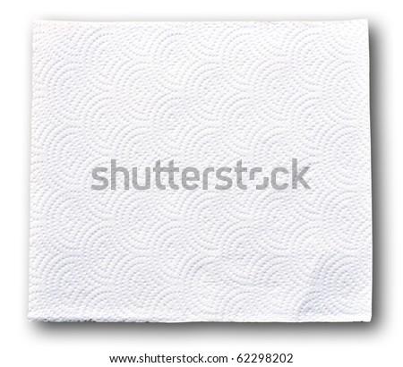 White tissue paper on white background - stock photo
