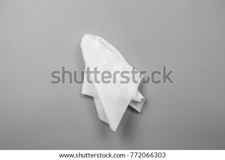 White tissues on gray background