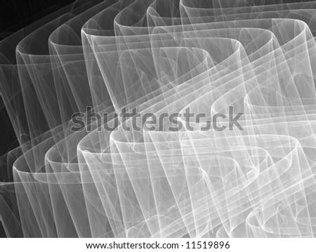 White to Black Monochrome 3D Ripples