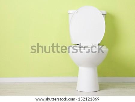White toilet bowl in a bathroom #152121869