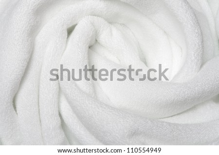 White towels   for wellness