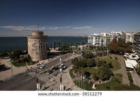 White Tower square, Thessaloniki, Greece