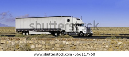 white truck on the move #566117968