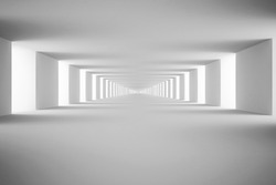 White tunnel. 3d render