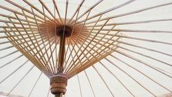 White umbrella structure.
