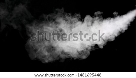 White vapour spray steam from air saturator