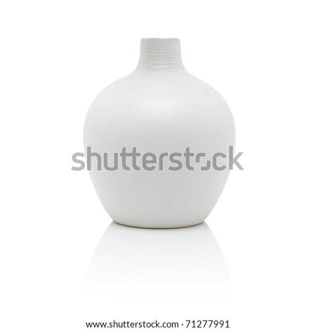 White vase, isolated on white