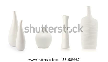 White vases isolated on white #561589987