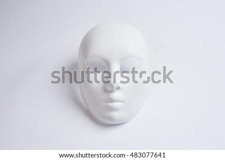 white venetian mask on a white background #483077641