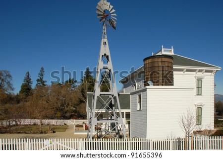 white victorian farm house...