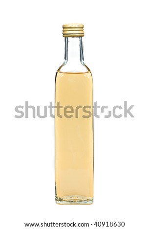 White vinegar bottle isolated over white background