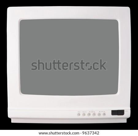 White Vintage TV set