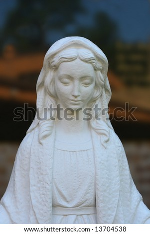 White Virgin Mary Statue(Release Information: Editorial Use Only. Use of this image in advertising or for promotional purposes is prohibited.)