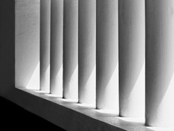 White wall Architecture details lighting shade shadow Abstract background