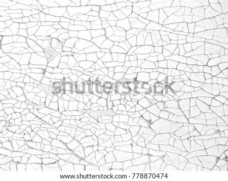 White wall background with black crack texture