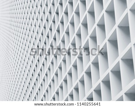 White wall design Architecture details Geometric Pattern