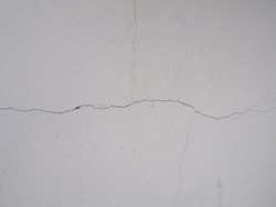 White wall fracture crack closeup