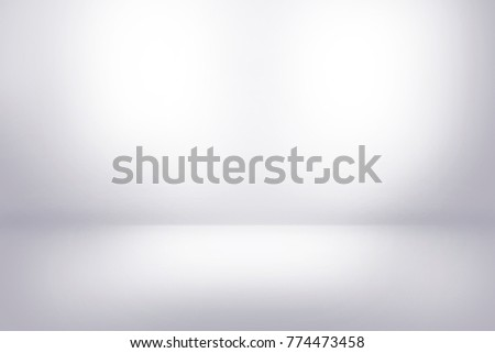 White wall in white room background with dark and light on studio showcase wall and floor texture abstract illustration interior can use for background and product display