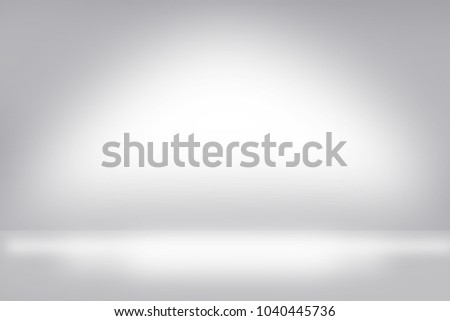 White wall studio showcase in white room background with dark and light on wall and floor texture abstract illustration interior blurred background, empty space, can use for display your products
