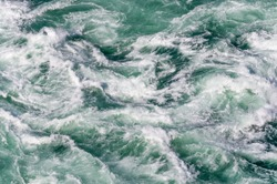 White water background, Niagara River, Ontario, Canada