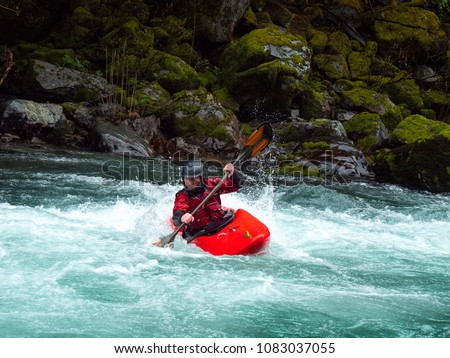 White water kayaking on the Smith River in northern California