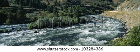 White water on Payette River in Nez Perce Indian country, Idaho