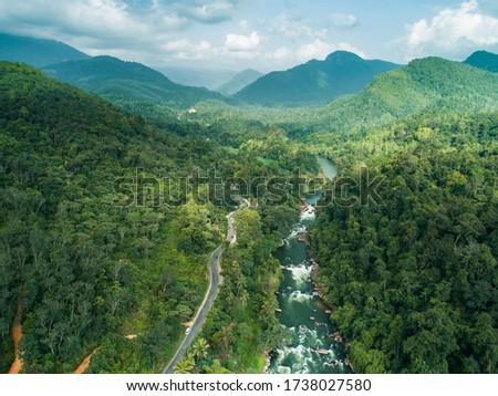 White water rafting rapids at the Kelani Ganga river in Kitulgala Sri Lanka Foto stock ©