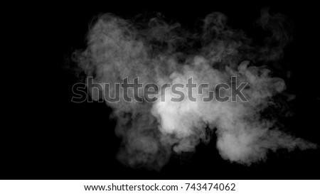 White water vapour on a black background. Close-up shot Сток-фото ©
