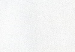 White watercolor paper with texture. Horizontal background for painting. Empty white page, textured. Abstract white background .