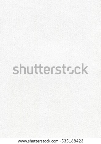 White watercolor paper with texture.  Vertical background for painting. Empty white page, textured. #535168423
