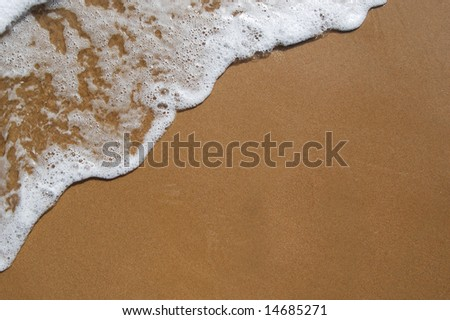 White wave on perfect sand #14685271