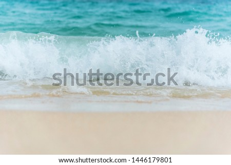White wave on tropical summer island  #1446179801