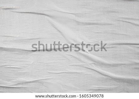 White waved crinkled creased wrinkled textured poster, creative paper idea