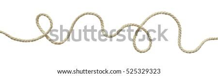 White wavy rope isolated on white #525329323