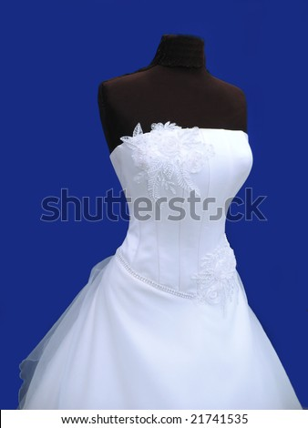 2011 New Style A line Strapless Chapel Train Black Lace Satin Wedding Dress