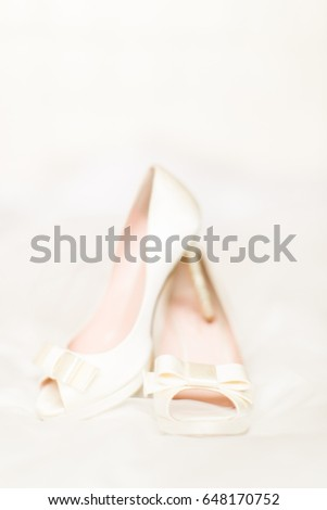 White wedding heels #648170752