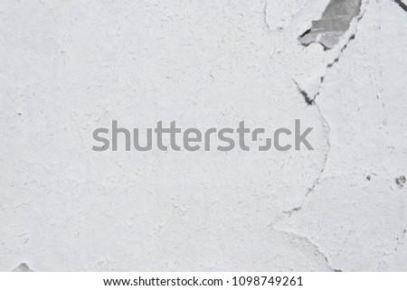 white wheatpaste poster