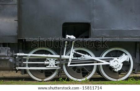 white wheels - stock photo