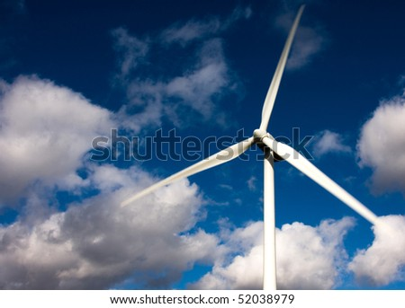 white wind turbine, alternative energy source